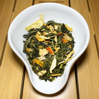 Sencha Ingwer-Zitrone aromatisierter Grüntee