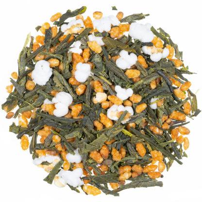 Genmaicha Grüner Tee mit geröstetem Reis Foto loser Tee