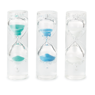 Teeuhr Sanduhr aus Glas 1,5 Minuten