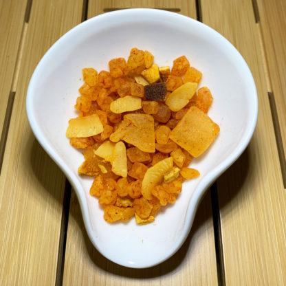 Früchtetee Fruchttanz Kokos-Limette in Präsentationsschale