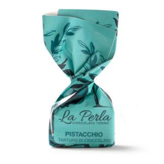 Tartufo von La Perla Wohlduftende Pistazie mit crémiger weißer Schokolade Trüffelkonfekt