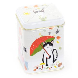 Teedose mit Motiv Katze für 100g Tee
