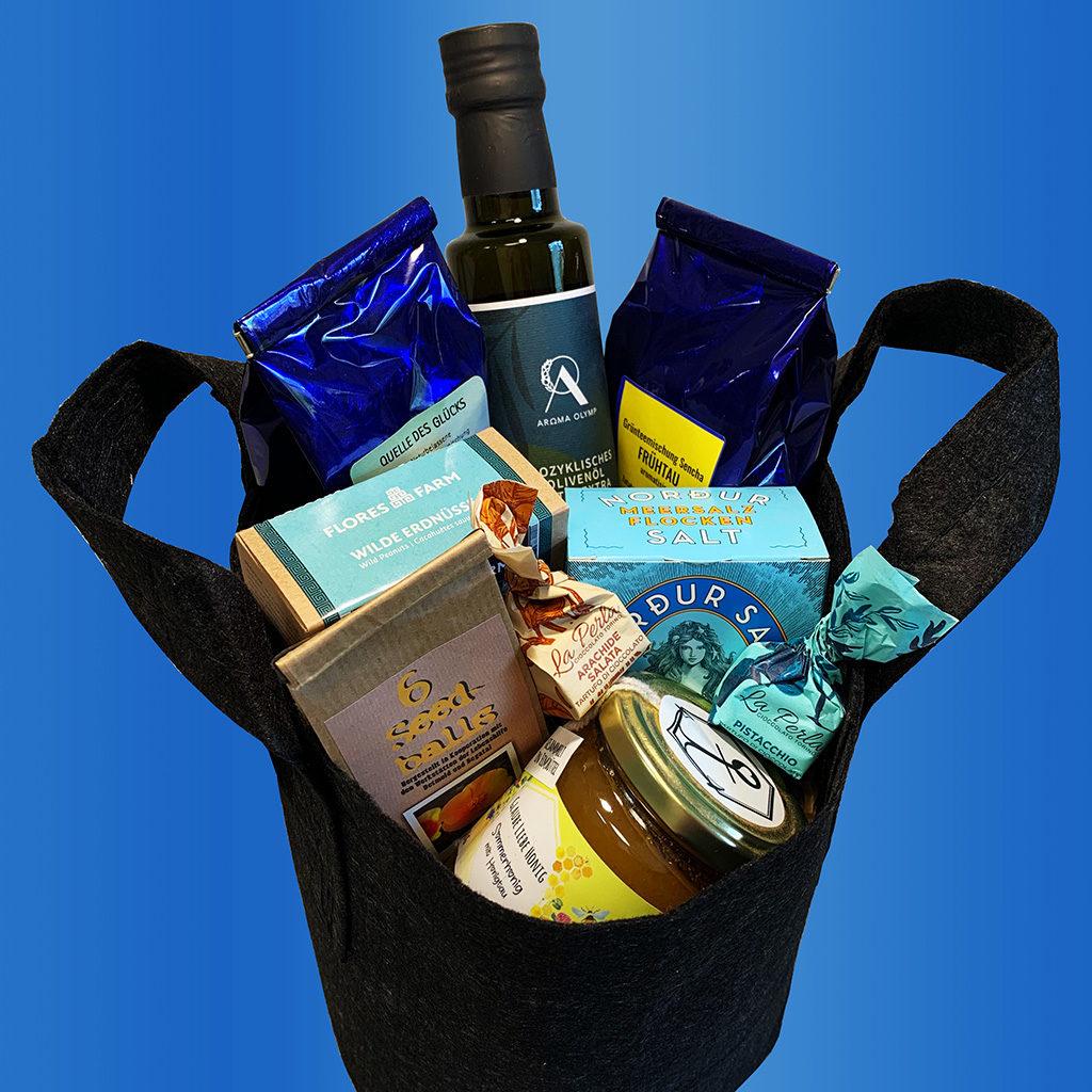 Geschenkkorb für Firmen Machen Sie Ihren Mitarbeitern ein Freude mit nachhaltigen Produkten und Delikatessen