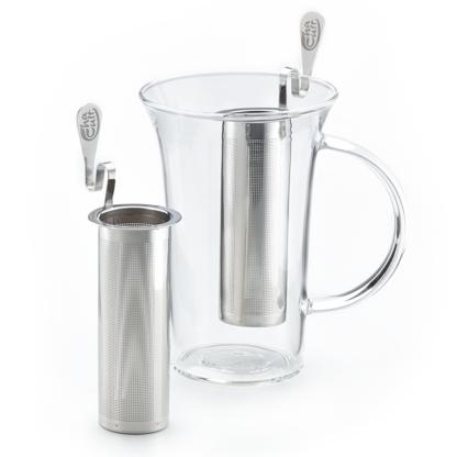 Teefilter für Thermoskannen, Mega Mugs und schmalen Teekannen aus Edelstahl